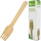 Party Besteck Gabel 20er aus Holz 15,5cm
