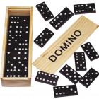 Domino in Holzbox 16x5cm mit Spielanleitung