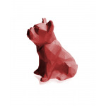 Candle Bulldog - Metallic-Rot