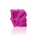 Candle LOVE - pink