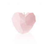 Candle heart angular - bright pink pearl