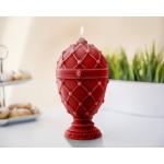Faberge egg candle XXL - bordeaux