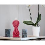 Candle Uhr Vintage - XXL - Himbeere