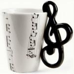 Becher Musik - Notenschlüssel