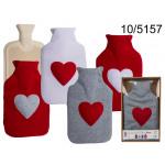 Wärmflasche in einem Pullover - Herz