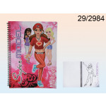 Notebook coloring Supermodels