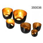 Kandelaar metalen zwart - 3 stuks