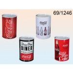 Piggy bank tin Coca-Cola