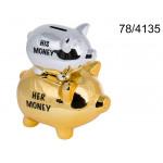 Piggy His / Her money