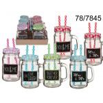 Mug jar with two straws