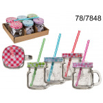 Cup jar with a straw - 200 ml