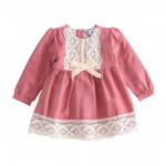 Clothing for boys and girls - pink dress with en