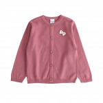 Children and baby clothes - knit jacket with bow a