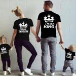 T-Shirt voor vrouwen, zijn koningin, fabrikant, zw