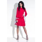 Dress, fronzoli, archi, qualità, rosso