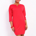 Dress with slit, coral, quality, S / ML / XL
