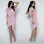 dress, asymmetric, quality, powder pink