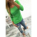 Classic blouse onder een jas, groen, unisize