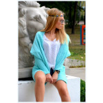 Sweater, bedspread, the color of mint, oversize, h