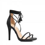 calzature stiletti tacco annodato nero