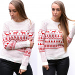 Christmas sweater, producer, uni, ecru