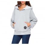 Hoodie, coton, sports, light gray