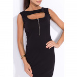 Condite con cut-out, slider, il collo, il nero
