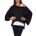 Loose blouse, oversize, quality, black, S / M, L /