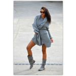 Sweater, bedspread, color gray, oversized, hit of