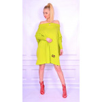 Long sweater, lime, tunic, new, oversize