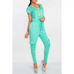 Overalls with pockets, mint, oversize