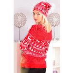 Christmas sweater, producer, uni, red