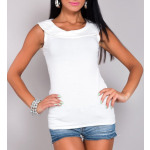 White blouse with a collar, full sizes