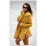 Sweater, bedspread, yellow, oversized, hit of the