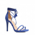calzature stiletti tacco annodato blu
