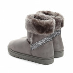 Shoes, snow boots, warm, quality, dark gray