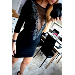 Dress, neckline, sequins, quality, black