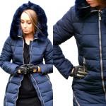Jacket, winter coat, hood, navy blue