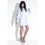 Vestito, maniche annodate, qualità, bianco