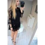 Tuniek mini jurkje, kant, uni, zwart