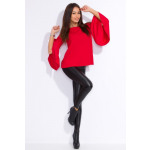Blouse with flared sleeves, producer, red