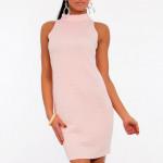 Dress roze, gewatteerd, klassiek, vrouwelijk