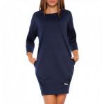 Tuniek, jurk, kwaliteit, klassiek, donkerblauw