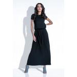 Dress, long, binding, quality, black