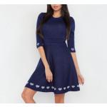 Uitlopende jurk, vrouwelijk, donkerblauw, S / M