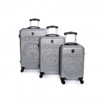 LOT DE 3 VALISES RIGIDE GEOGRAPHICAL NORWAY SAFARI