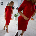 Dress, simple, classic, fit, red