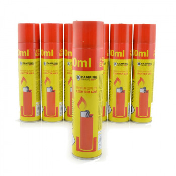 Accendino butano 300ml Gas in 12er Display
