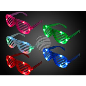 LED bril Atzenbrille kleur sorteren
