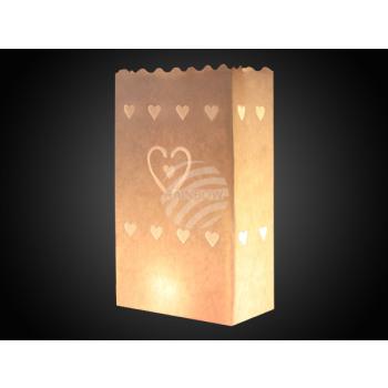 - bolsas de luz blanca, corazón